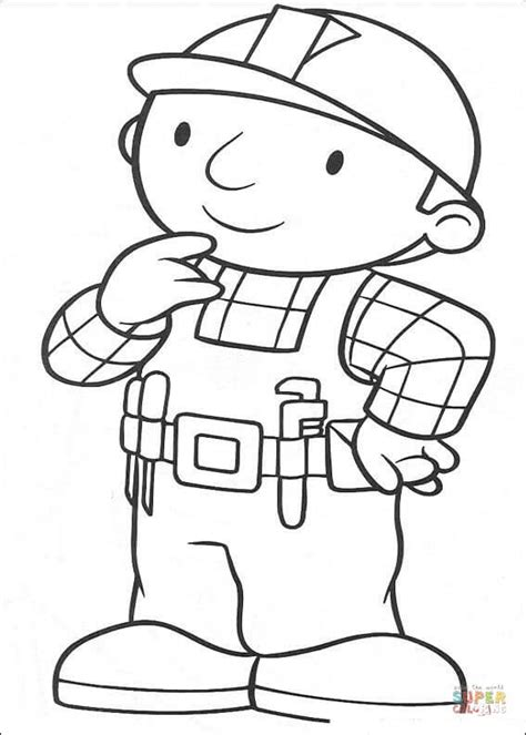 bob is thinking coloring page free printable coloring pages