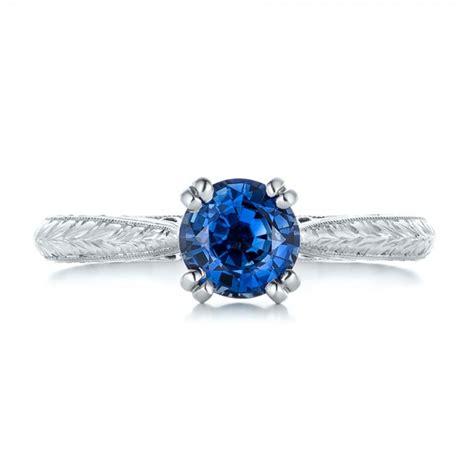 custom blue sapphire engagement ring 102304