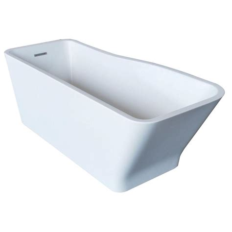 7 Ft Bathtub by Maax Lounge 5 3 Ft Freestanding Reversible Drain Bathtub In White 105798 000 001 100 The Home