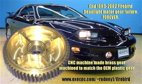 headlight gears rodney dickmans automotive accessories firebird headlight motor gears by rodney dickman