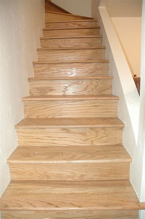 Installing Hardwood Flooring On Stairs Wood Stairs With Tile Risers