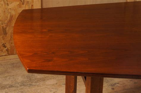 10 foot dining room table 10 foot walnut dining table attibuted to jens risom at 1stdibs