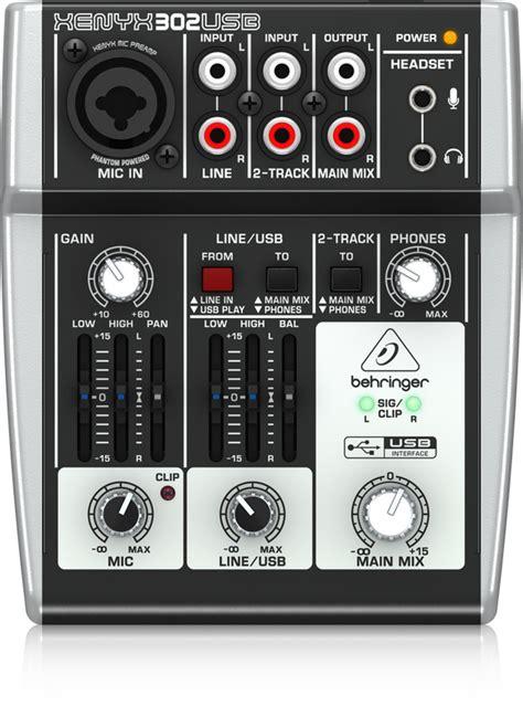 Adaptor Mixer Behringer 302usb analog mixers mixers behringer categories