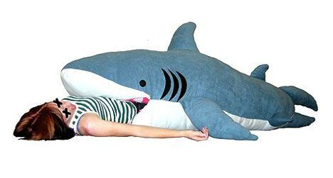shark pillow that eats you feed your kids to a shark shaped sleeping bag treehugger