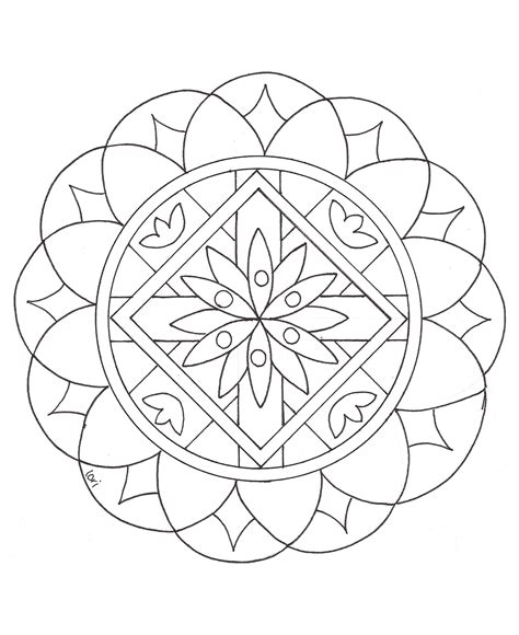 mandala coloring pages easy simple mandala 2 mandalas coloring pages for kids to