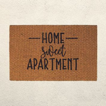 apartment sweet apartment rug adventure awaits welcome door mat from floormatshop on etsy