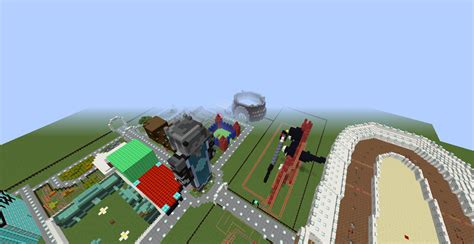 theme park popularmmos popularmmos amusement park map finished very major
