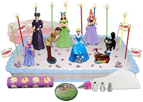 disney s princess cinderella deluxe cake cupcake topper decorating kit food beverages tobacco