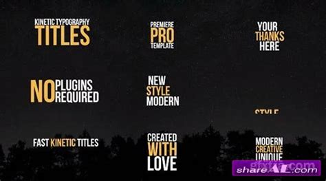 Kinetic Typography Premiere Pro Templates 187 Free After Effects Templates After Effects Intro Kinetic Typography Adobe Premiere Template