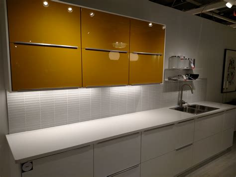 Led Lights For Kitchen Under Cabinet Lights A Look At Sektion In The Ikea Kitchen Showroom