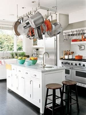 Kitchen Island Hanging Pots Controlling Cookware 3 1 2 Ways To Store Your Pots Pans
