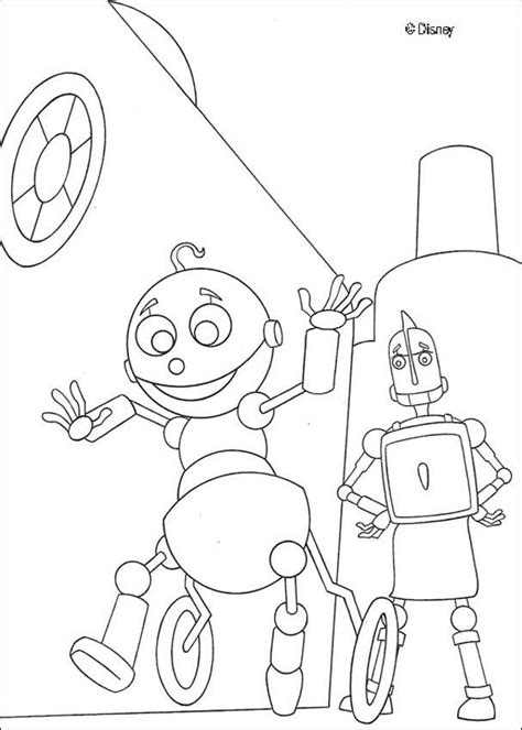 baby robot coloring page rodney and a baby robot coloring pages hellokids com