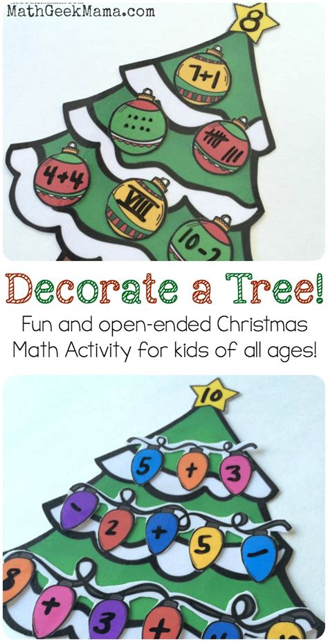 christmas activities for new students simple tree number sense activity