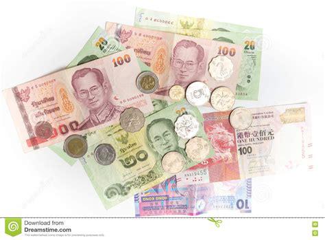 wechselkurs baht bangkok bank thai baht and hong kong dollars banknotes and coins
