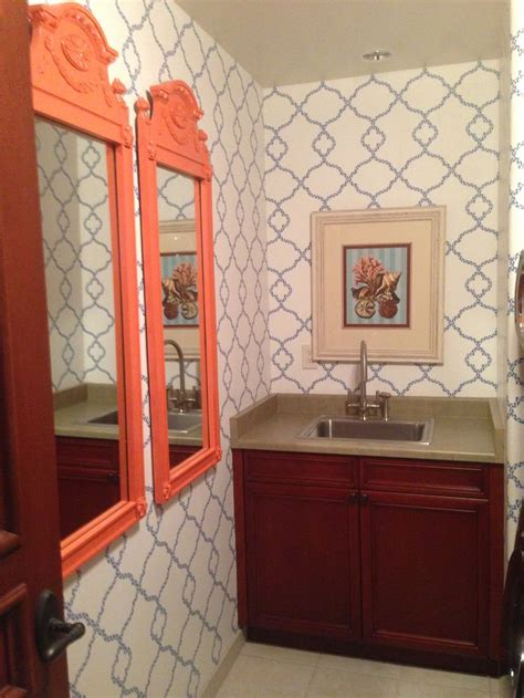 blue and orange bathroom orange blue bathroom crafty very crafty pinterest