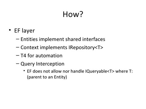 repository pattern multiple entities a clean repository pattern in ef