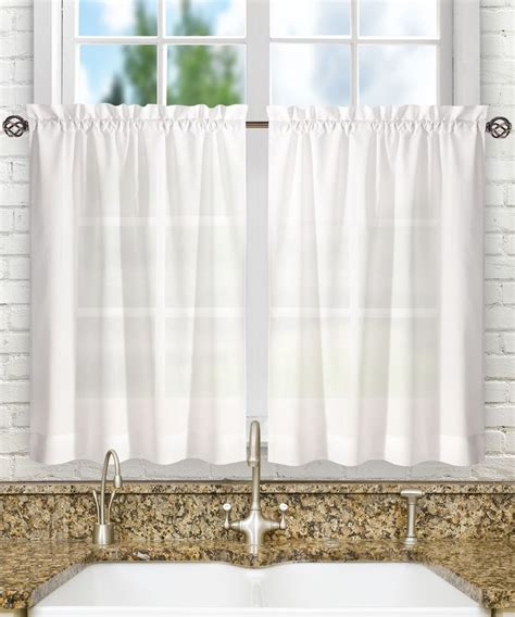 30 tier curtains ellis curtain stacey 56 by 30 inch tailored tier pair curtains white 56x30 new ebay