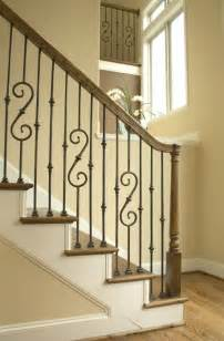 Stair Banister Pictures 25 Best Ideas About Iron Stair Railing On Pinterest