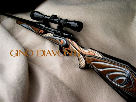 Handmade Rifle Stocks - gino diavonti artist and sculptor custom carved gunstocks