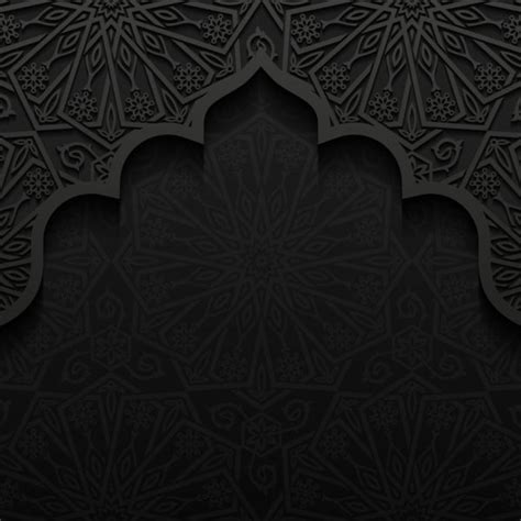 islamic pattern background black islamic mosque with black background vector 07 free download