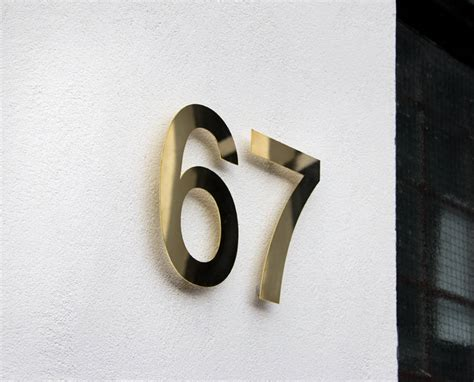 brass house modern brass house numbers by goodwin goodwin notonthehighstreet com