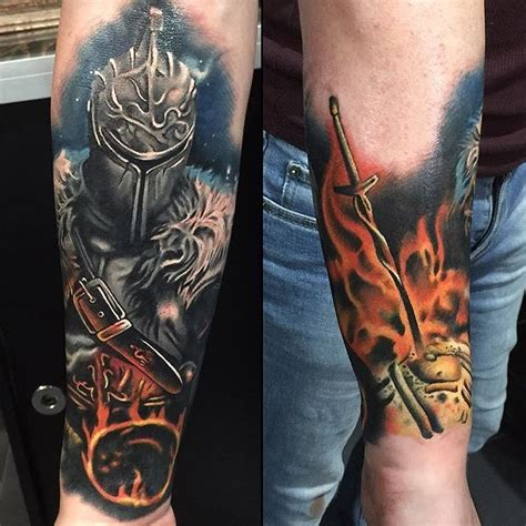 bonfire tattoo souls done by arnlyonstattoo