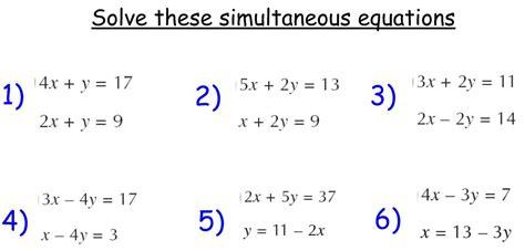 simultaneous equations maths teaching