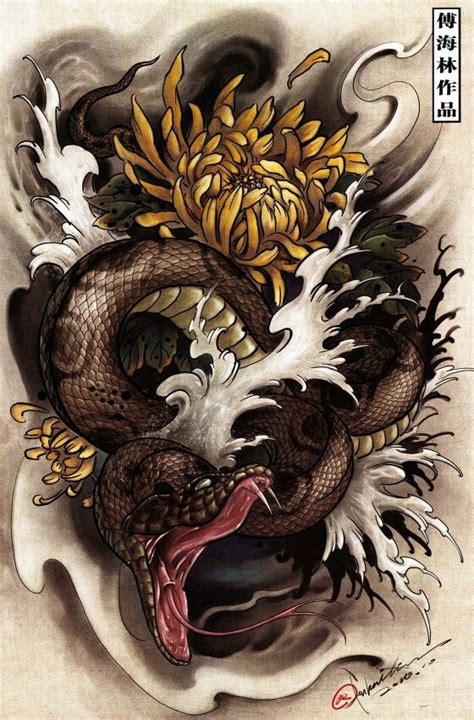 oriental snake tattoo designs best 25 japanese snake ideas on cobra