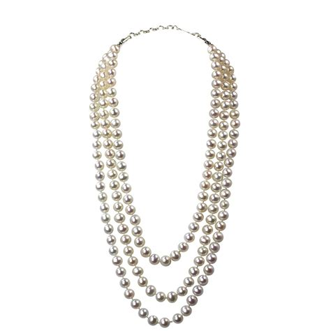 Giftcollection Semi Premium Necklaces strand pearl necklace aaa 7 5 8mm white freshwater cu i do pearls