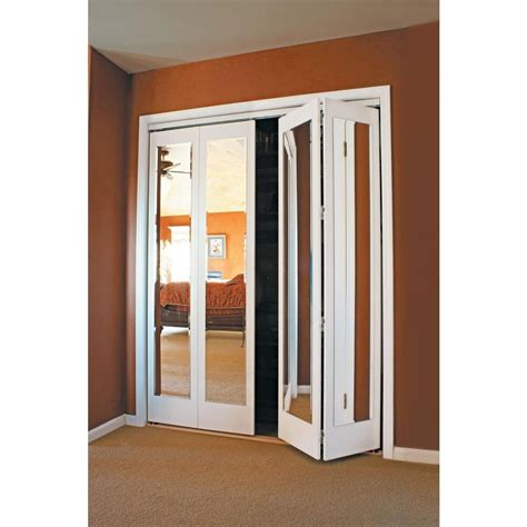 Adding Trim To Bifold Closet Doors - beveled mirror bifold closet doors