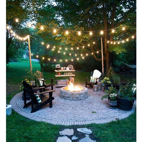 backyard string light ideas 25 best ideas about backyard string lights on pinterest