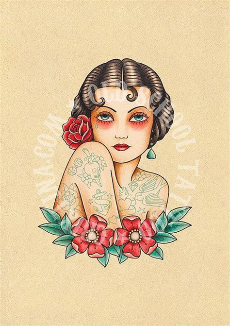 old school woman tattoo design 1000 ideas sobre muchachas del tatuaje tradicionales en