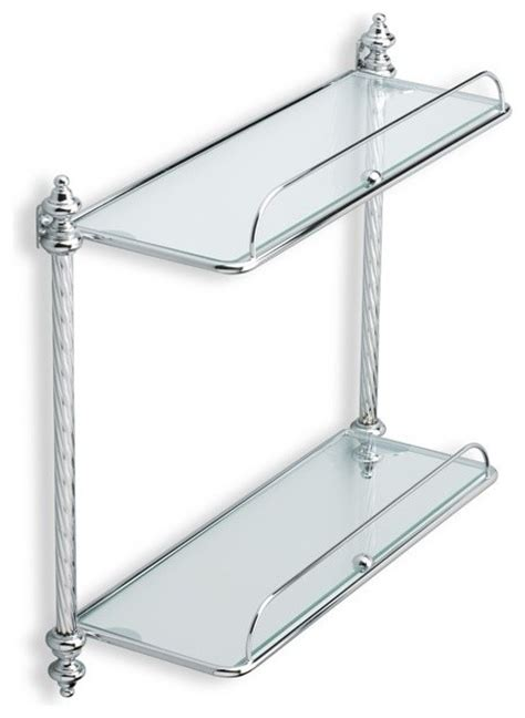 Chrome And Glass Bathroom Shelves Glass Bathroom Shelf Chrome Traditional Bathroom Cabinets And Shelves By Thebathoutlet