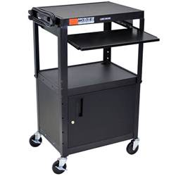 Computer Cart Desk Luxor H Wilson Avj42kbc Mobile Computer Cart Workstation 24 Quot X 18 Quot With Locking Cabinet And