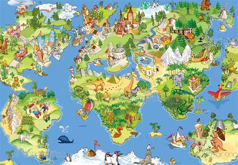 murais de parede  posters infantis mapa mundo infantil