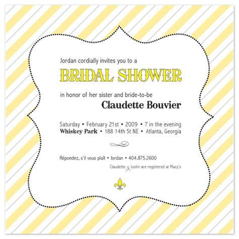 View Sle Wedding Invitations by Bridal Shower Invitation Wording Nanopics Pictures