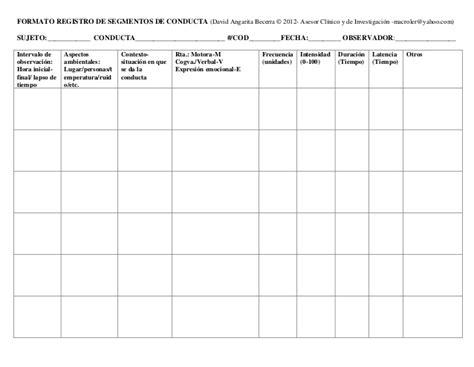 formato de registro de conducta y disciplina en el aula tu escuelita formato registro de conductas