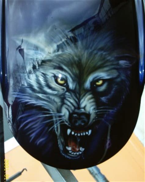 Lackieren Wolf by Fotos Galerie Airbrush Air Brush Motorrad Auto Paint
