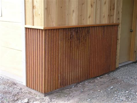 Corrugated Tin Wainscoting corrugated metal wainscoting myideasbedroom