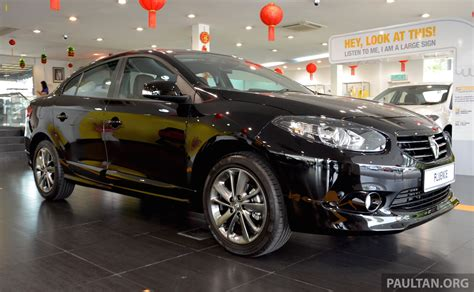 renault fluence black renault fluence black edition launched rm119 888 paul