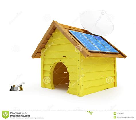 solar panel dog house dog house with solar panels and antenna royalty free stock photo image 22190905