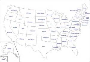 Map Of Usa With States Blank Us Map United States Blank Map United States Maps
