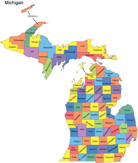 michigan counties map michigan powerpoint map counties