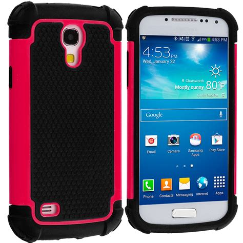 black hybrid rugged matte shockproof case cover for