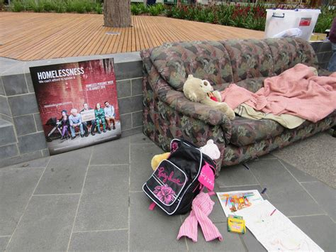 couch surfing homelessness free bbq and couch surfing art installation to raise