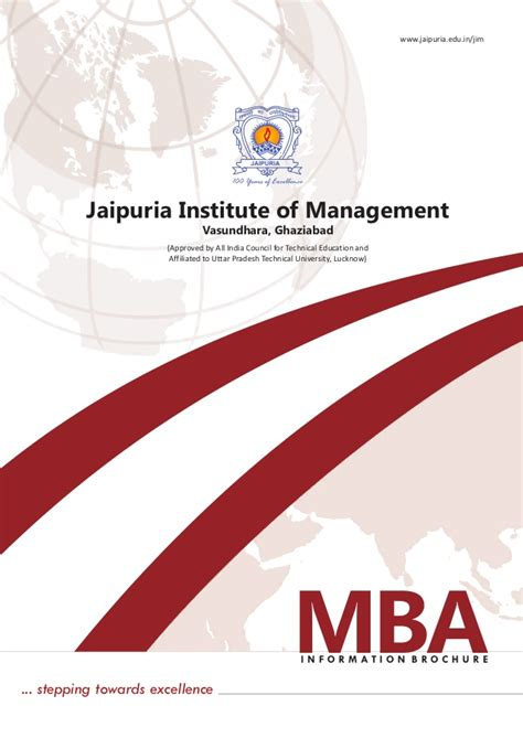 Mba Brochure by Jim Mba Admission Brochure