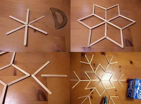 figuras geometricas hechas con palillos copos navide 241 os con palitos de madera