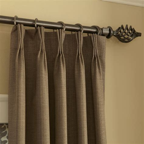 pleated curtain panels blinds com easy drapery panels pinch pleat in rio