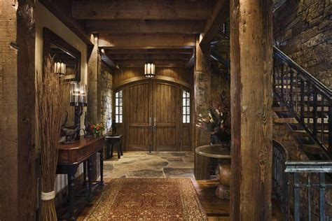 house entry designs rustic house design in western style ontario residence