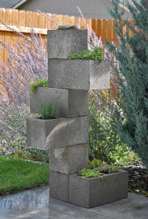 cinder block planter diy cinder block vertical planter the garden glove